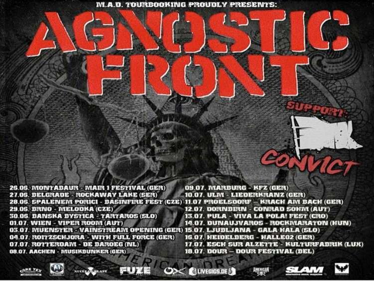 Photo zu 02.07.2015: AGNOSTIC FRONT, CONVICT - Hannover - Bei Chez Heinz