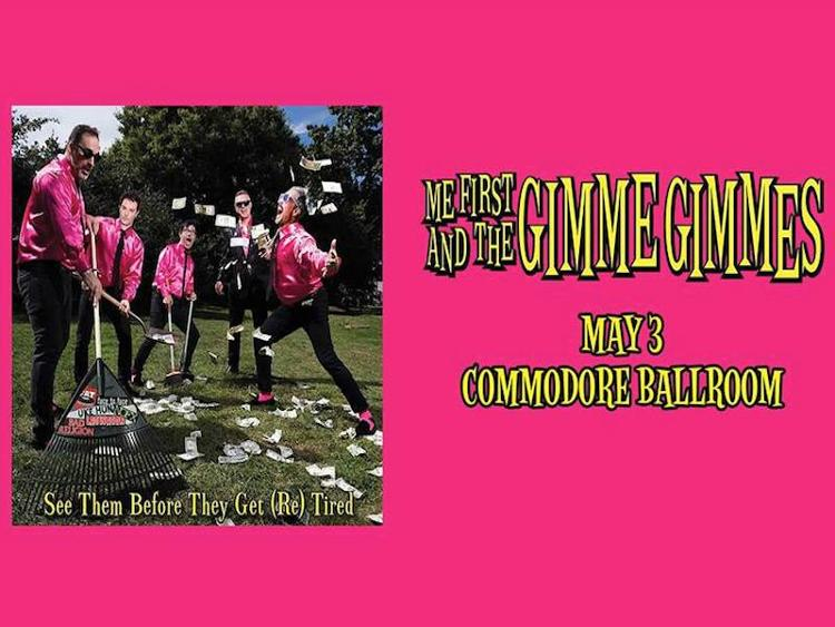 Photo zu 03.05.2017: ME FIRST & THE GIMME GIMMES, TOGETHER PANGEA - Vancouver - Commodore Ballroom