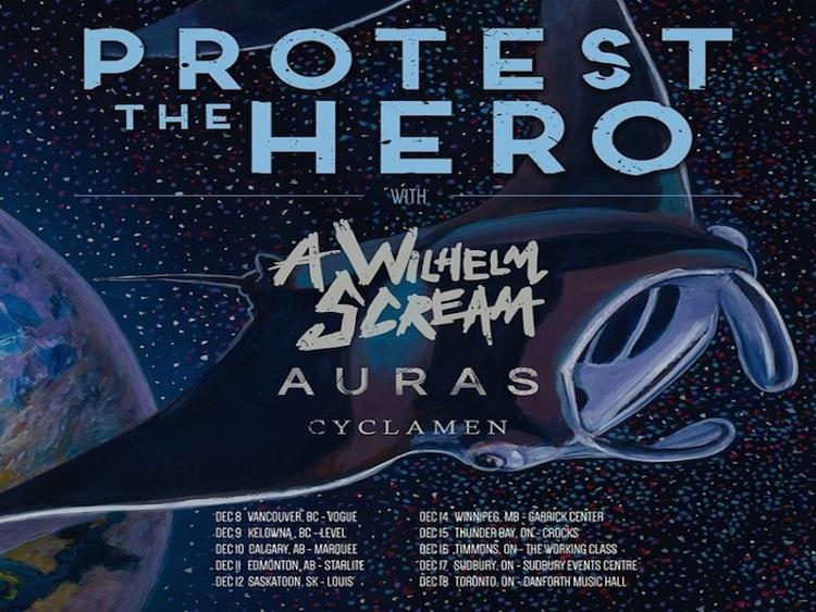 Photo zu 08.12.2016): PROTEST THE HERO, A WILHELM SCREAM, AURAS, CYCLAMEN - Vancouver, BC - The Vogue Theatre