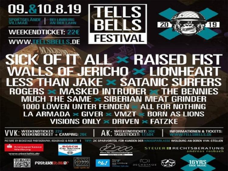 Photo zu 09. - 11.08.2019: TELLS BELLS FESTIVAL - Villmar - Sportgelände