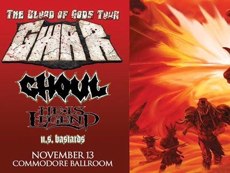 Photo zu 13.11.2017: GWAR, GHOUL, HE IS LEGEND, U.S. BASTARDS - Vancouver - The Commodore Ballroom