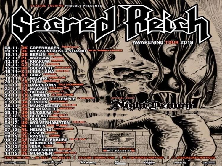 Photo zu 13.12.2019: SACRED REICH, NIGHT DEMON - Karlsruhe - Substage