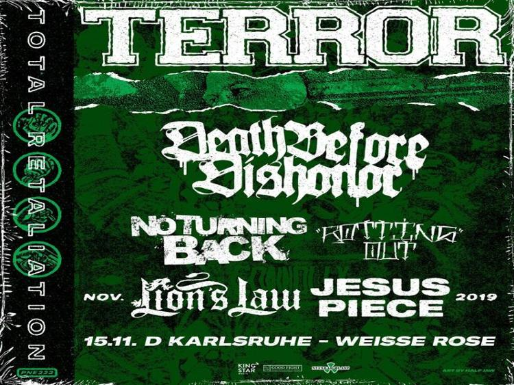 Photo zu 15.11.2019: TERROR, DEATH BEFORE DISHONOR, NO TURNING BACK, ROTTING OUT, LION'S LAW, JESUS PIECE - Karlsruhe - Weiße Rose