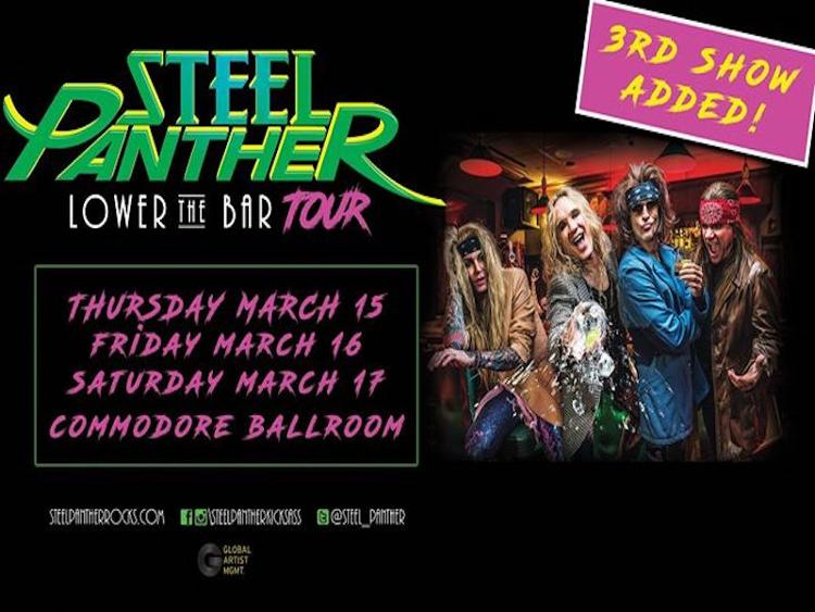Photo zu 16.03.2018: STEEL PANTHER, THE WILD! - Vancouver, BC - The Commodore Ballroom
