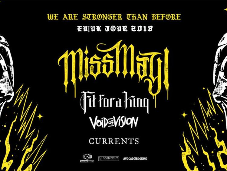 Photo zu 17.02.2018: MISS MAY I, FIT FOR A KING, VOID OF VISION, CURRENTS - Nürnberg - Z-Bau