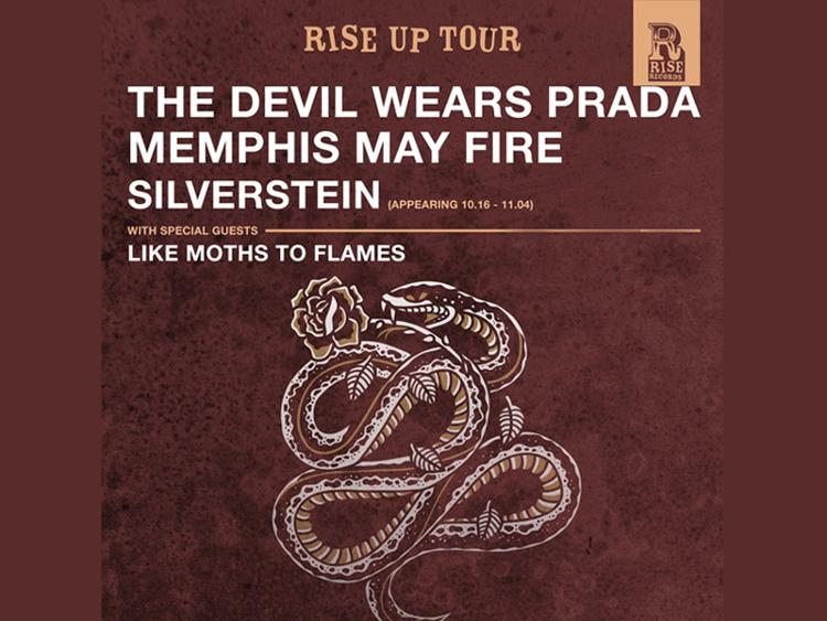 Photo zu 22.11.2016: Rise Up Tour mit SILVERSTEIN, MEMPHIS MAY FIRE, THE DEVIL WEARS PRADA, LIKE MOTHS TO FLAMES - Hamburg - Markthalle