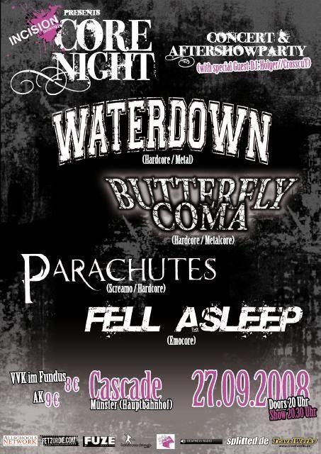 Photo zu 27.09.2008: Waterdown, Butterfly Coma, Parachutes, Fell Asleep - Münster - Cascade