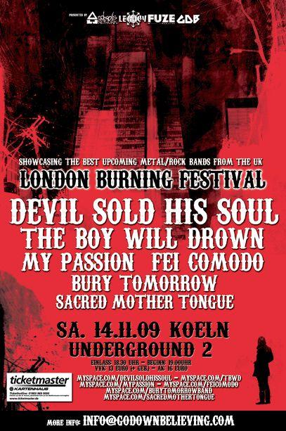 Photo zu 14.11.2009: The Boy Will Drown, Devil Sold His Soul, My Passion, Fei Comodo, Bury Tomorrow - Köln - Underground2