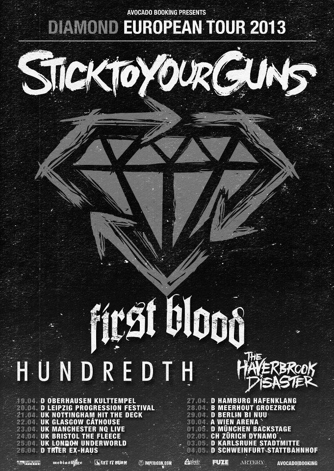 Photo zu 26.04.2013: Stick To Your Guns, First Blood, Hundredth - Trier - Exhaus