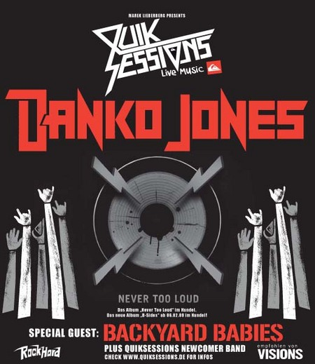 Photo zu 27.03.2009: Danko Jones, Backyard Babies, Moorange - Essigfabrik - Köln