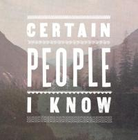 Certain People I Know - Certain People I Know