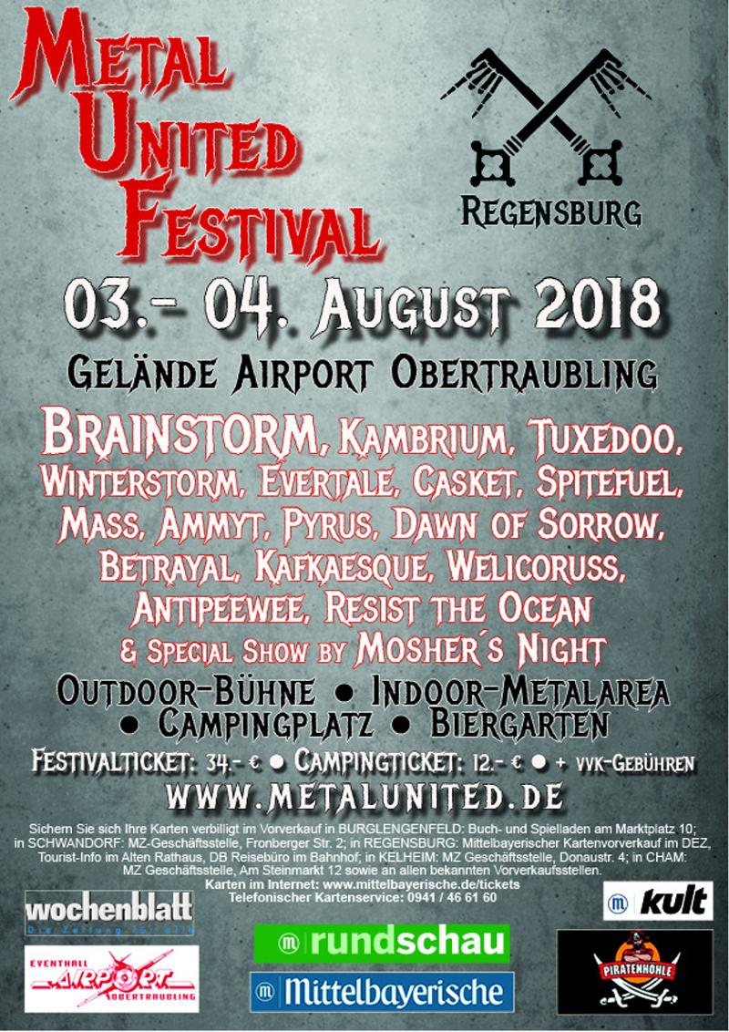 verlosung metal united festival regensburg 2x2 tickets zu gewinnen allschools. Black Bedroom Furniture Sets. Home Design Ideas