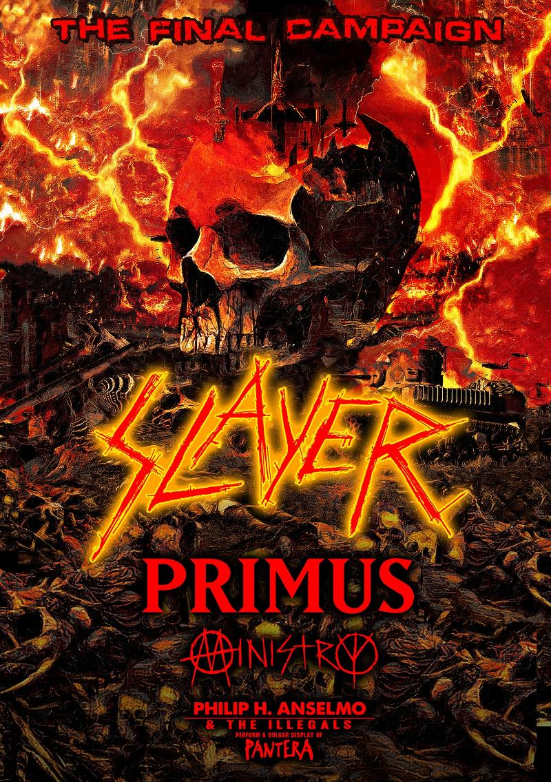 Slayer Final US Tour 219 Line-Up Poster