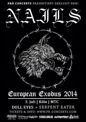 Photo zu 03.07.2014: Nails, Dull Eyes, Serpent Eater - Köln, MTC