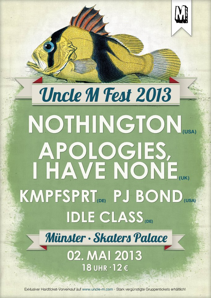 Photo zu 02.05.13: Idle Class, PJ Bond, KMPFSPRT, Apologies, I Have None, Nothington - Münster - Skaters Palace