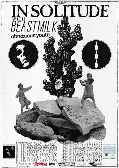 In Solitude, Beastmilk Tour 2014 Plakat