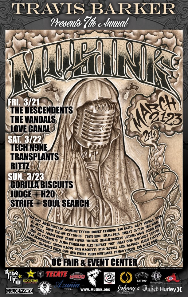 Photo zu 21.-23.03.2014: Musink Tattoo Convention & Music Festival - OC Fair & Event Center - Costa Mesa, CA