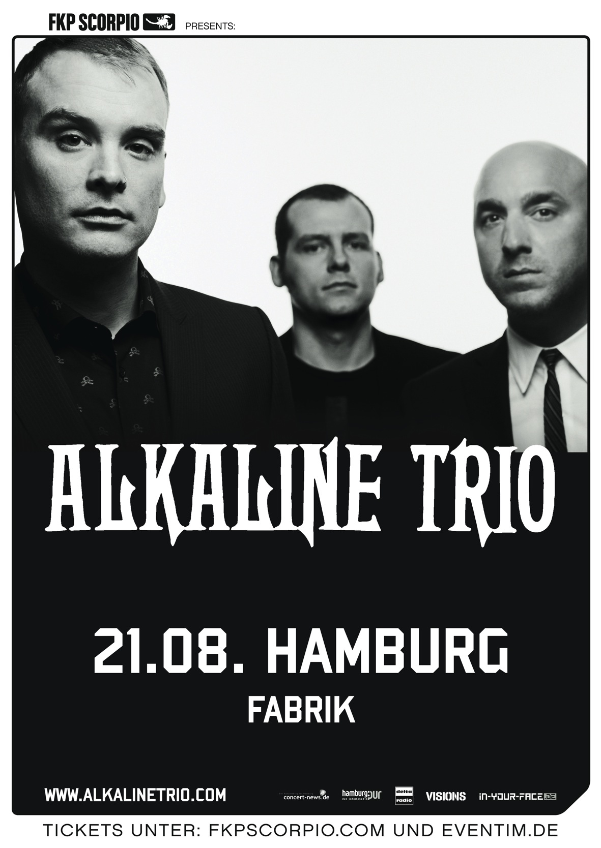 Photo zu 21.08.2013: Alkaline Trio, The Bronx - Fabrik, Hamburg