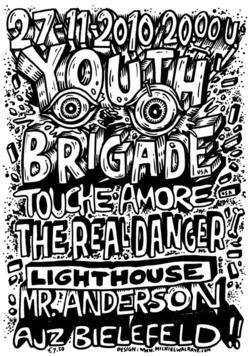 Photo zu 27.11.2010: The Real Danger, Youth Brigade, Lighthouse, Touché Amoré, Mr. Anderson - AJZ - Bielefeld