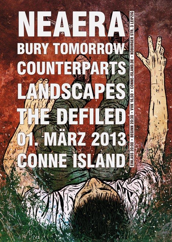 Photo zu 01.03.2013: Neaera, Bury Tomorrow, Counterparts, Landscapes - Leipzig - Conne Island