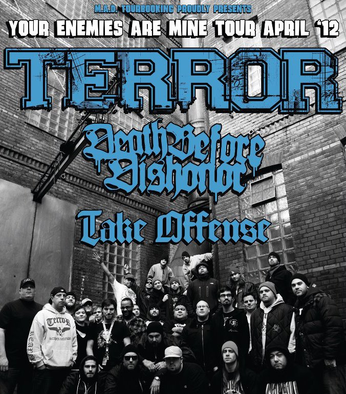 Photo zu 08.04.2012: Terror, Death Before Dishonor, Take Offense, Empty Veins - Bochum - Matrix
