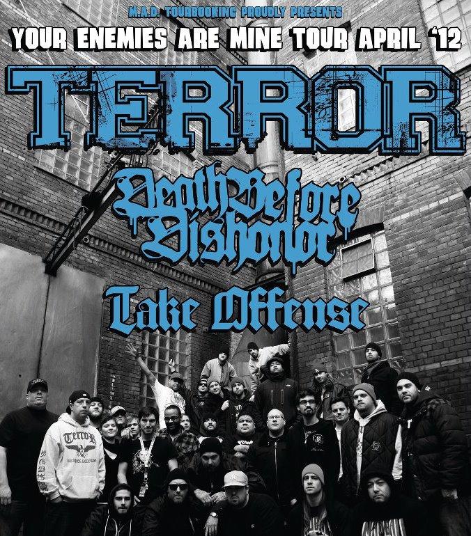 Photo zu 17.04.2012: Terror, Death Before Dishonor, Take Offense - Karlsruhe - Stadtmitte