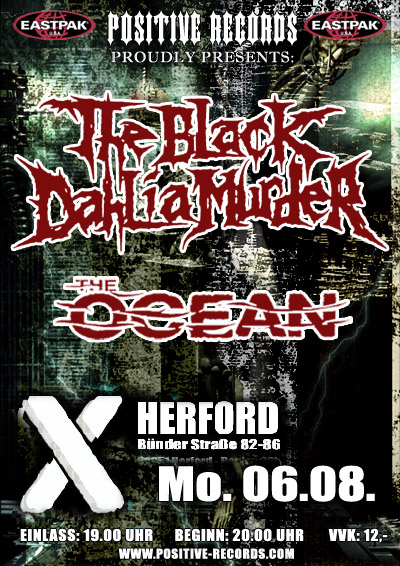Photo zu 06.08.2007: The Black Dahlia Murder, The Ocean, Taste Of Blood, Alibi For A Murder - Herford - X