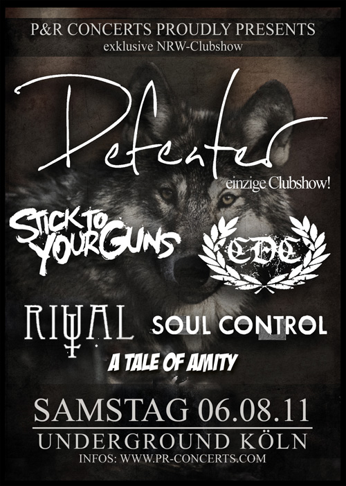 Photo zu 06.08.2011: A Tale Of Amity, Soul Control, Ritual, CDC, Stick To Your Guns, Defeater - Köln, Underground