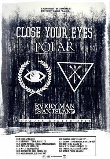 Photo zu 15.11.2014: Close Your Eyes, Polar, Every Man Is An Island - Saarbrücken - Garage