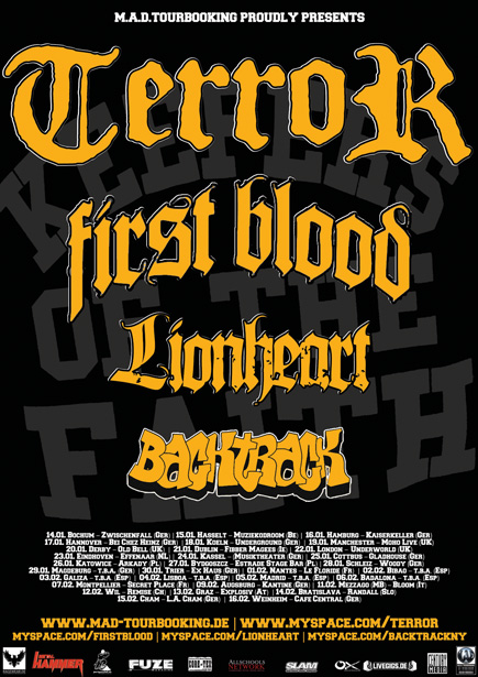 Photo zu 17.01.2011: Lionheart, First Blood, Terror, Backtrack - Hannover, Bei Chez Heinz