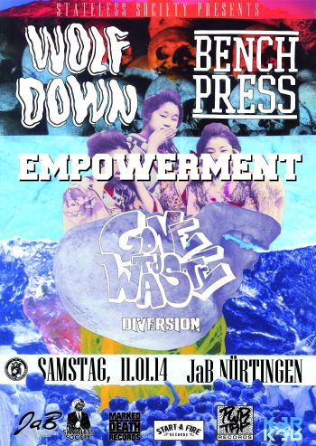 Photo zu 11.01.2014: Empowerment, Wolf X Down, Benchpress, Gone To Waste, Diversion - Nürtingen - Jugendhaus