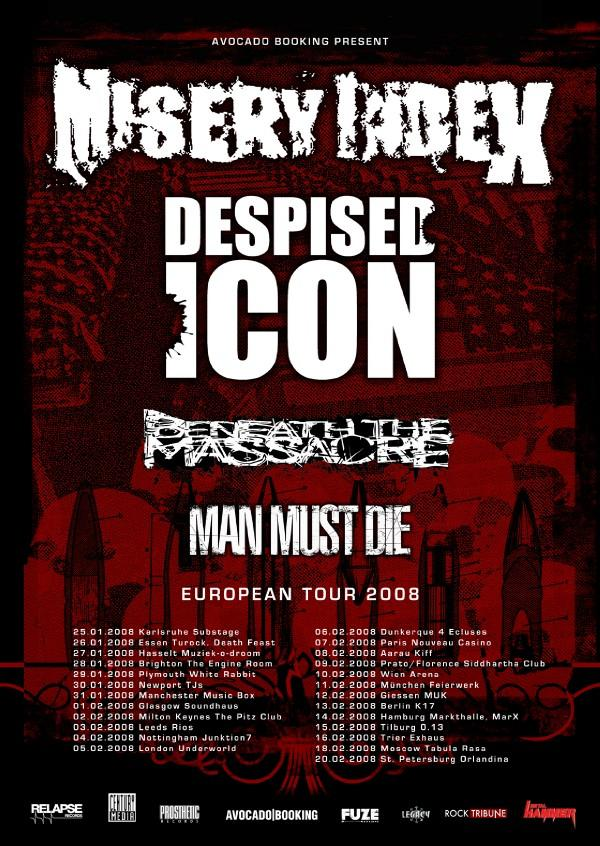 Photo zu 16.02.2008: Misery Index, Despised Icon, Beneath the Massacre, Man Must Die, War From A Harlots Mouth - Trier - Exhaus