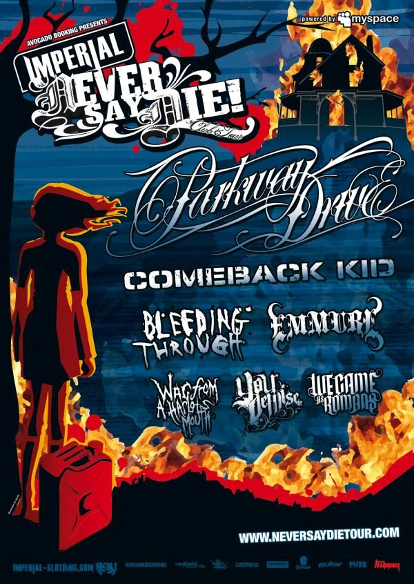 Photo zu 29.10.2010: War From A Harlots Mouth, Bleeding Through, Comeback Kid, Parkway Drive, We Came As Romans, Emmure, Your Demise - Turbinenhalle - Oberhausen