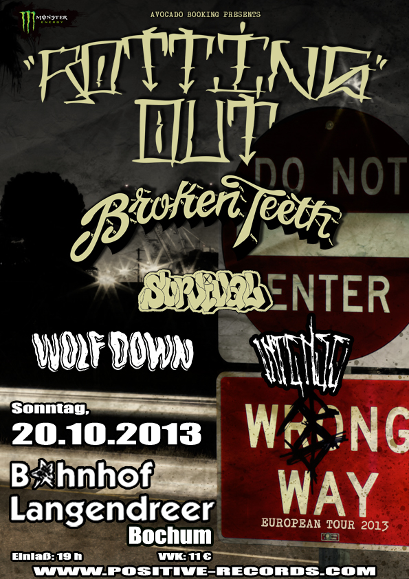 Photo zu 20.10.2013: Rotting Out, Broken Teeth, Survival, Wolf X Down, Intense - Bahnhof Langendreer, Bochum