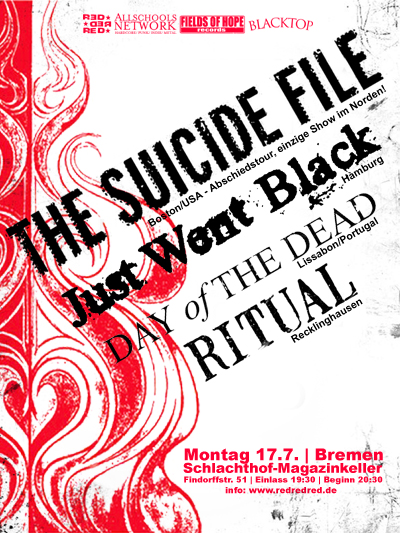 Photo zu 17.07.2006: The Suicide File, Just Went Black, Day Of The Dead, Ritual - Bremen - Schlachthof-Magazinkeller