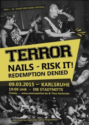 Photo zu 09.03.2015: Terror, Nails, Risk It, Redemption Denied - Karlsruhe - Stadtmitte