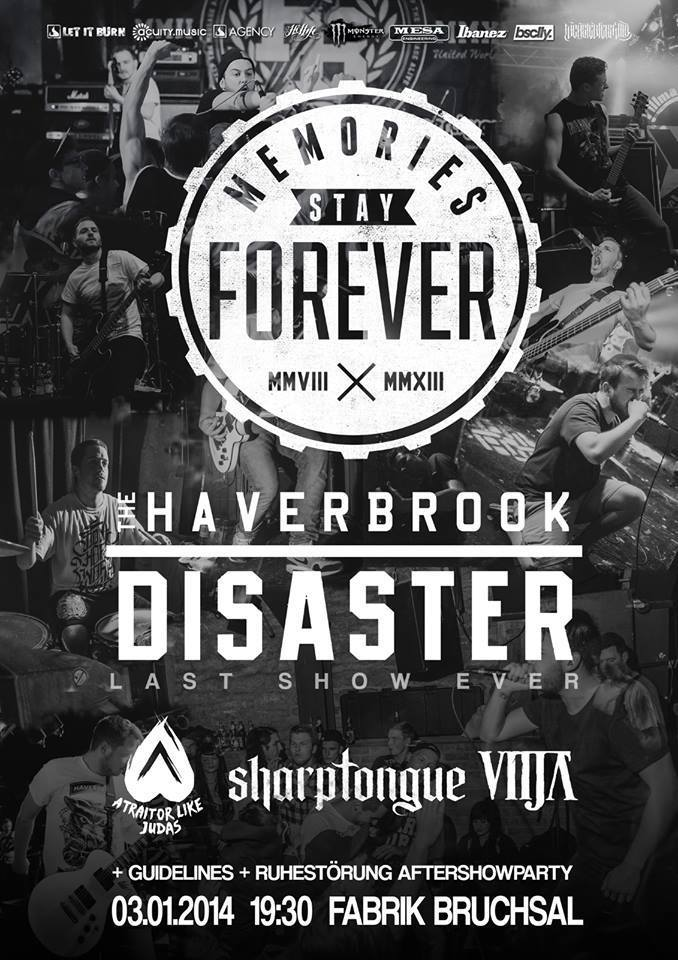Photo zu 03.01.2014: The Haverbrook Disaster, A Traitor Like Judas, Vitja, Sharptongue, Guidelines - Bruchsal - Fabrik