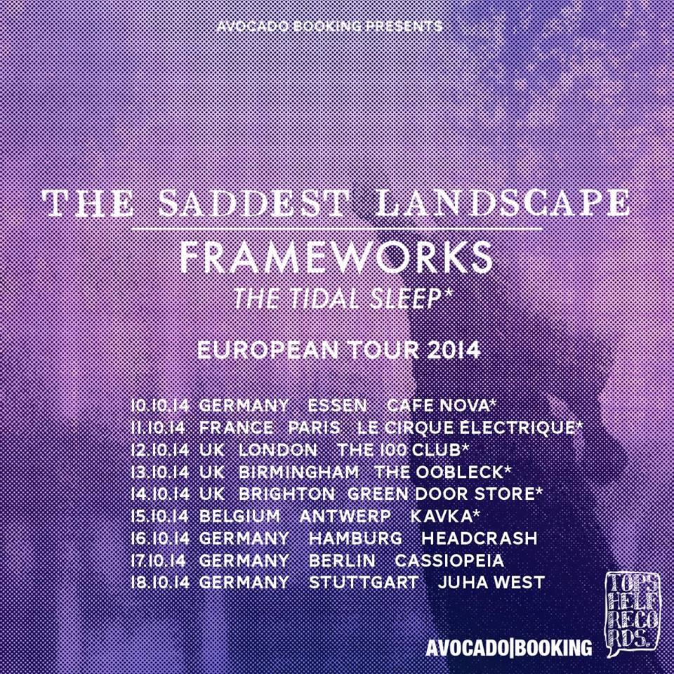Photo zu 10.10.2014: The Saddest Landscape, Frameworks, The Tidal Sleep - Cafe Nova, Essen