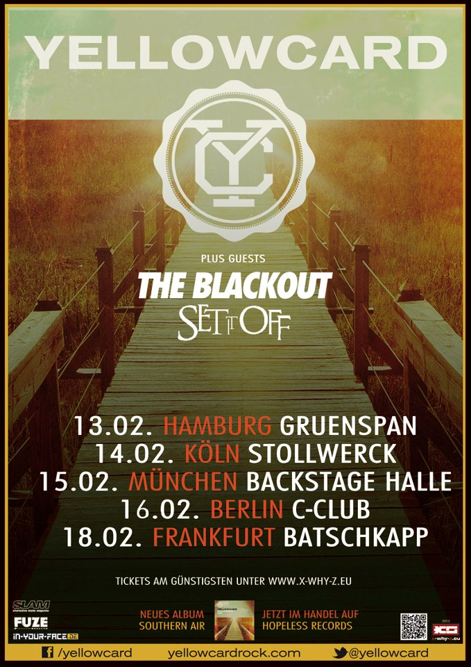 Photo zu 13.02.2013: Yellowcard, The Blackout, Set It Off - Hamburg - Grünspan