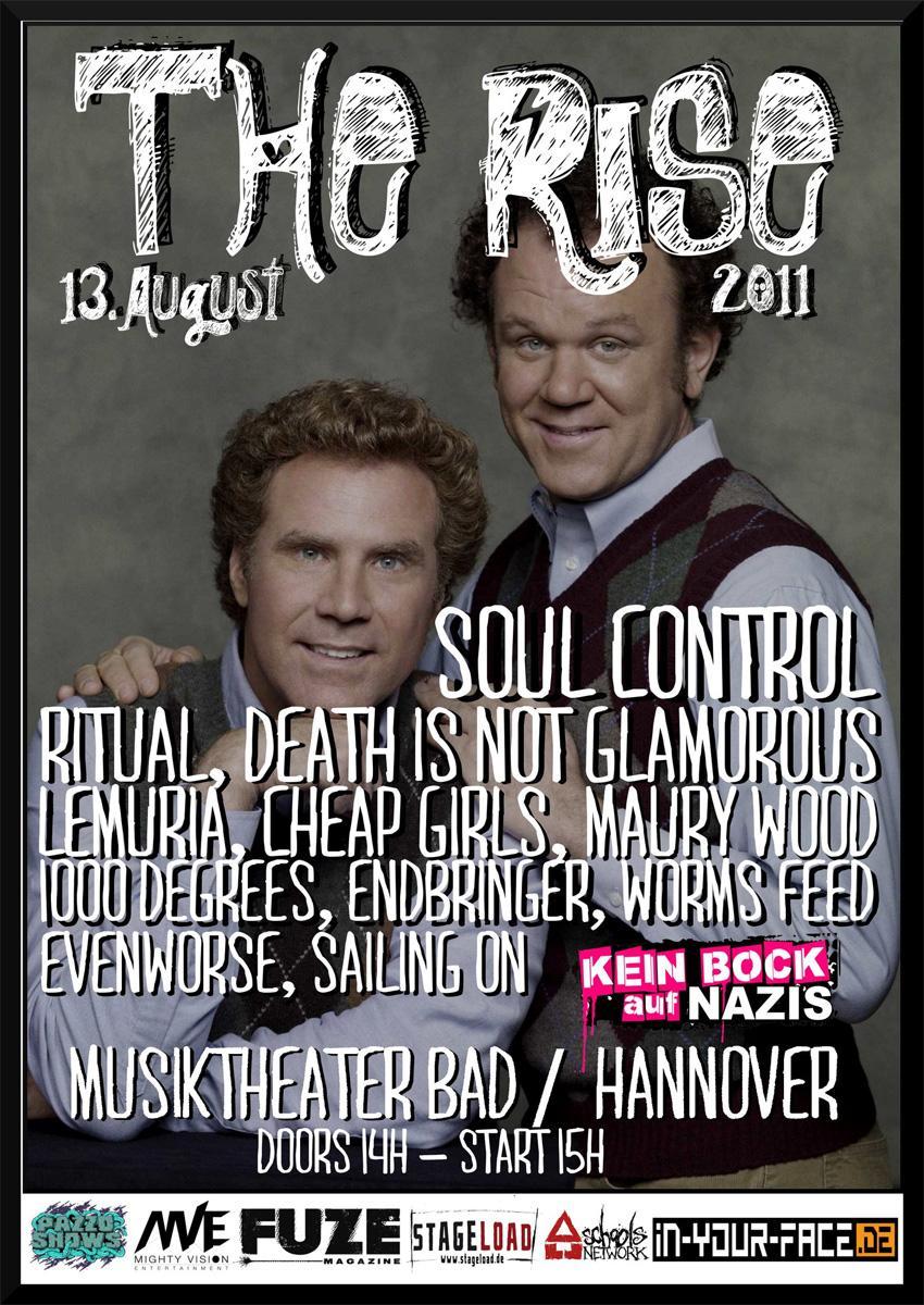 Photo zu 13.08.2011: Death Is Not Glamorous, Soul Control, Ritual, Lemuria, Endbringer, Evenworse, Cheap Girls - RISE FEST 2011, Musiktheater Bad - Hannover