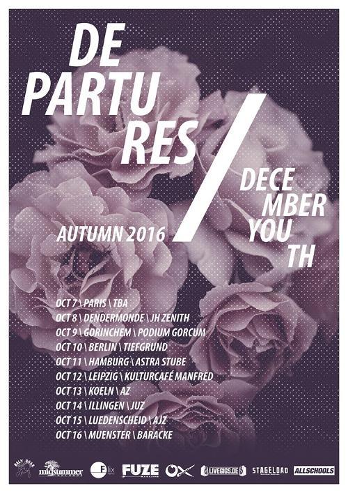 ALLSCHOOLS PRESENTS: DEPARTURES & DECEMBER YOUTH - auf gemeinsamer Tour im Oktober