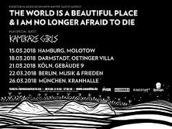 ALLSCHOOLS PRESENTS: THE WORLD IS A BEAUTIFUL PLACE & I AM NO LONGER AFRAID TO DIE - 1x 2 Tickets pro Show zu gewinnen